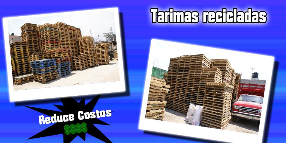 Tarimas de aluminio tarimas de dos entradas tarimas de 4 for Tarimas de madera recicladas